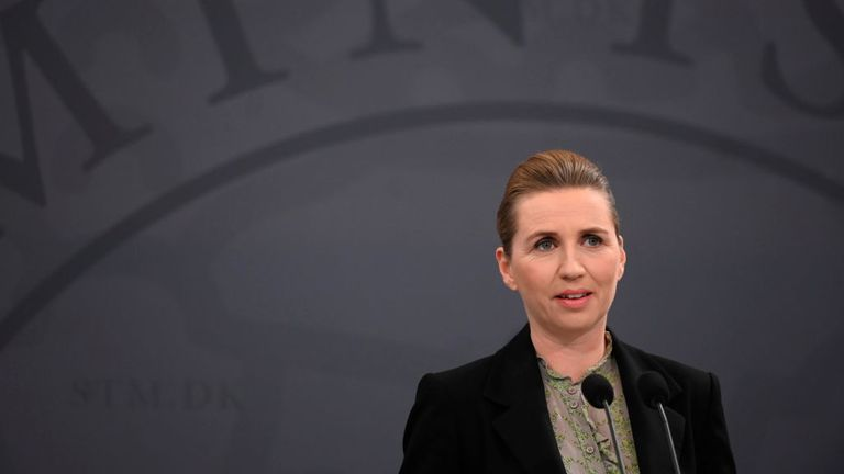 Denmark's Prime Minister Mette Frederiksen has announced measures to lift part of her country's lockdown