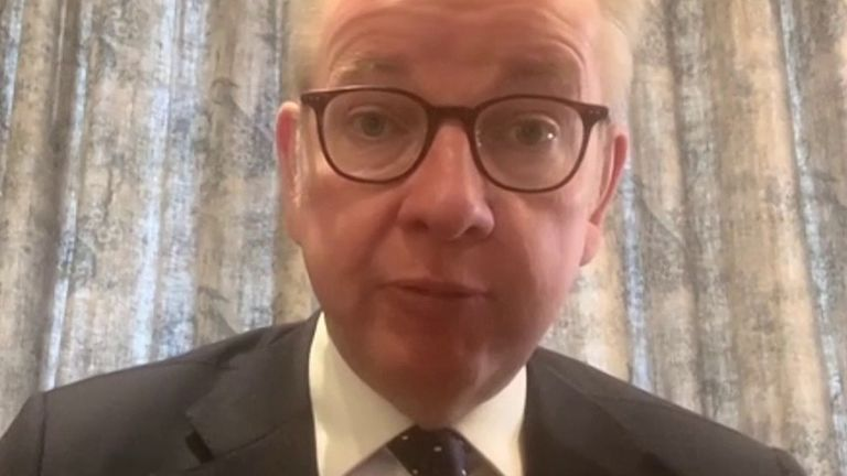 Michael Gove wishes Boris Johnson well as he battles coronavirus