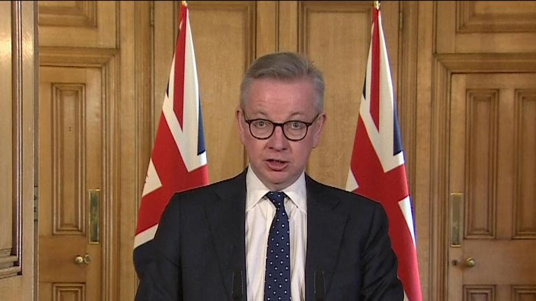 Michael Gove has urged people not to go outside.