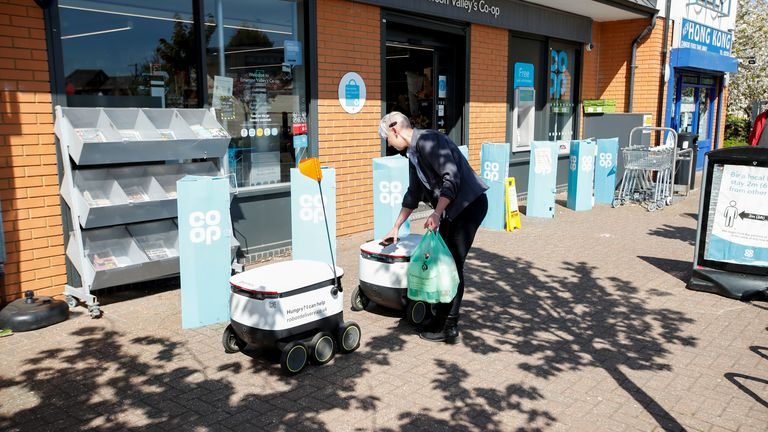 Starship Enterprises, the company who own the machines, do not charge NHS workers for delivery