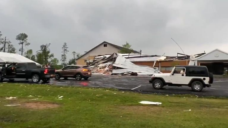 Mississippi has been hit by multiple destructive and deadly tornadoes causing people to flock to shelters.