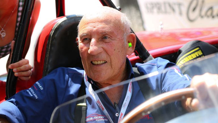 GROEBMING, AUSTRIA - JULY 20: Sir Stirling Moss participates at the Ennstal Classic 2013 on July 20, 2013 in Groebming, Austria.  (Photo by Moni Fellner/Getty Images) *** Local Caption *** Sir Stirling Moss