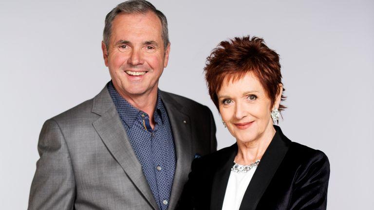 Alan Fletcher and Jackie Woodburne, aka Dr Karl and Susan Kennedy from Neighbours. Pic: FremantleMedia LTD
