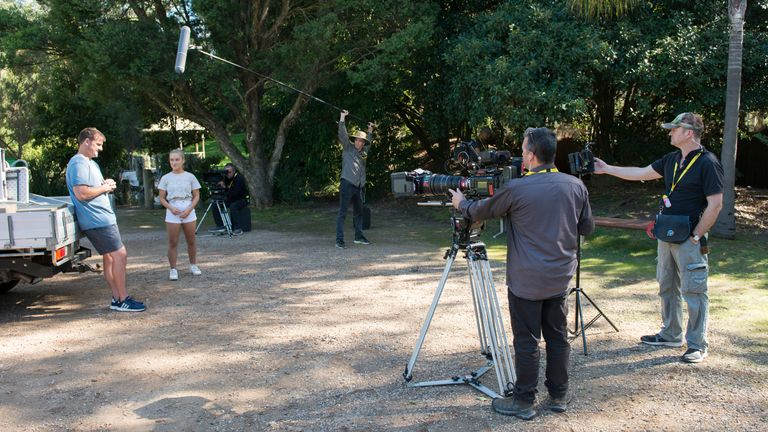 The soap Neighbours is filming with social distaning measures on set. Pic: FremantleMedia LTD