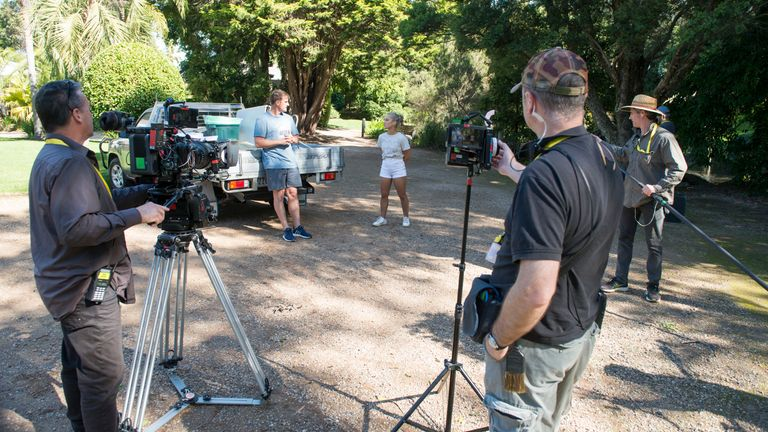 The soap Neighbours is filming using social distancing measures on set. Pic: FremantleMedia LTD
