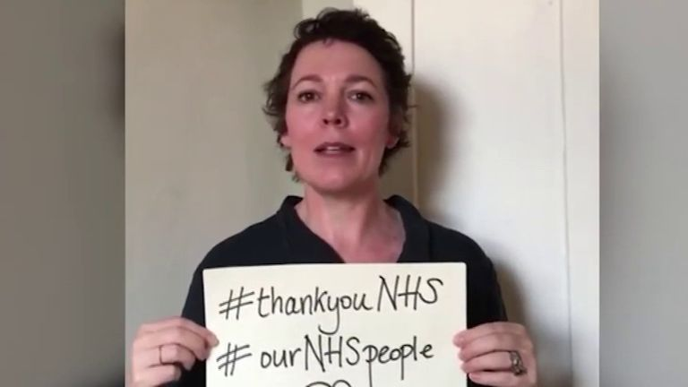 Celebrities say thank you to NHS