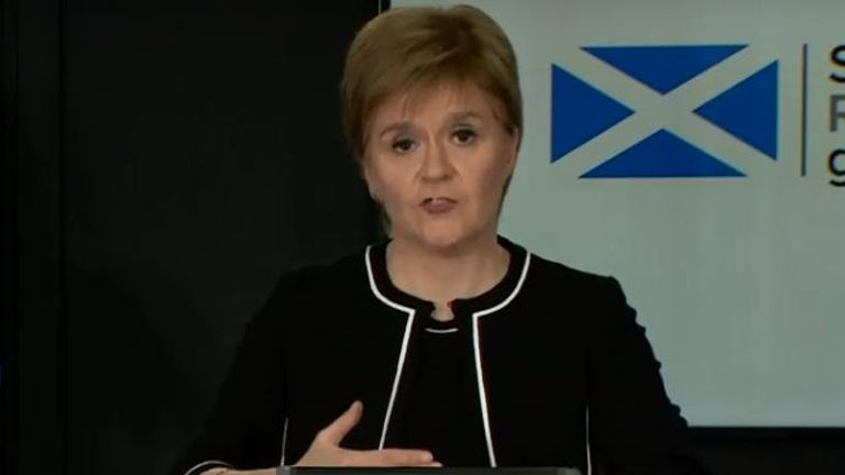 Scottish first minister Nicola Sturgeon has recommended people wear face coverings while out if they cannot be 2m apart from others