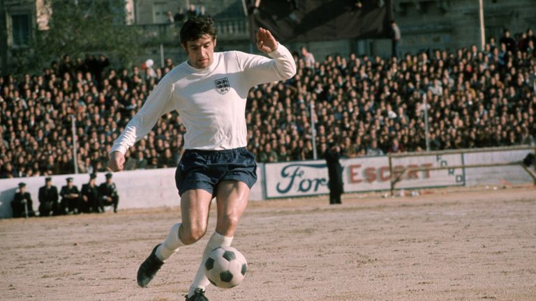 Hunter in action for England away at Malta in 1971