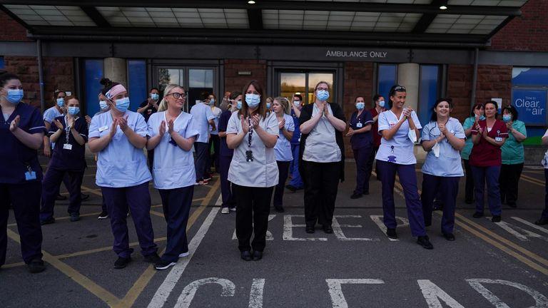 Nurses in Middlesborough took part in the event