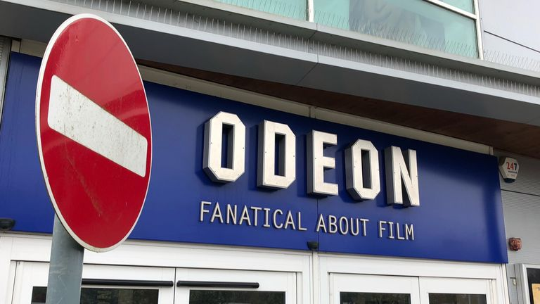 Universal films are no longer going to be shown in Odeon cinemas