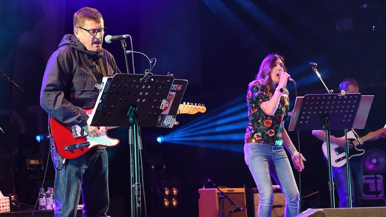 Paul Heaton & Jacqui Abbott headline the main stage during day one of Beautiful Days Festival at Escot Park on August 18, 2017 in Exeter, England