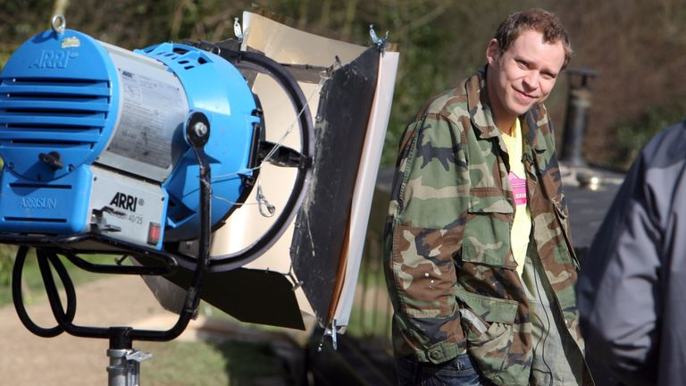 Robert Webb on the set of Peep Show in 2007