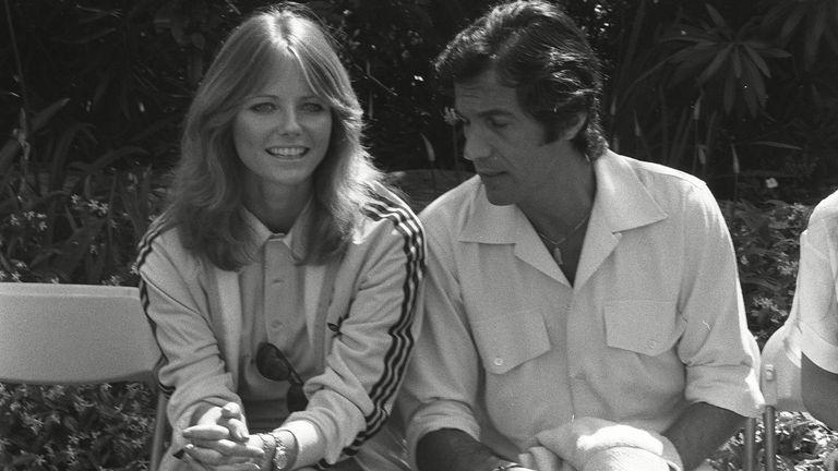 Cheryl Tiegs, Peter Beard in 1978. Pic: Bei/Shutterstock