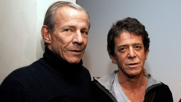 NEW YORK - JANUARY 19: Photographer Peter Beard (L) and Lou Reed (R) attend the opening of Lou Reed NY photography exhibit at the Gallery at Hermes on January 19, 2006 in New York City. (Photo by Andrew H. Walker/Getty Images)