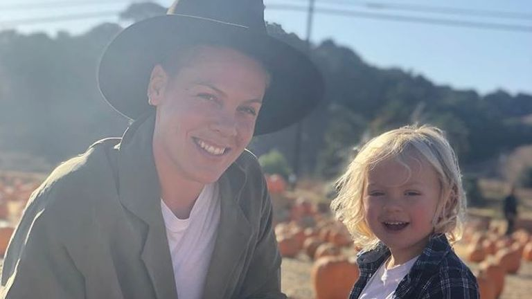 Pink and her son Jameson. Pic: Instagram/Pink
