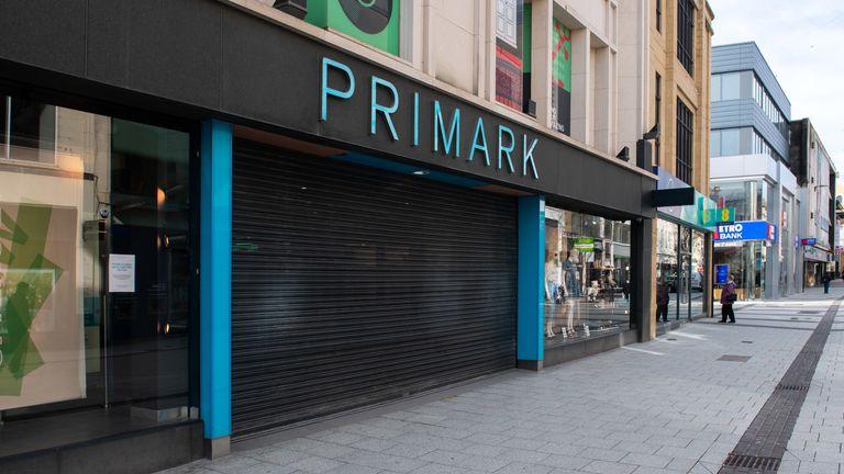 Primark stores closed