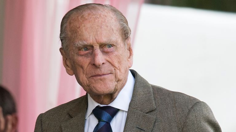 BRAEMAR, SCOTLAND - SEPTEMBER 02: Prince Philip, Duke of Edinburgh attends the 2017 Braemar Highland Gathering at The Princess Royal and Duke of Fife Memorial Park on September 2, 2017 in Braemar, Scotland. (Photo by Samir Hussein/Samir Hussein/WireImage)