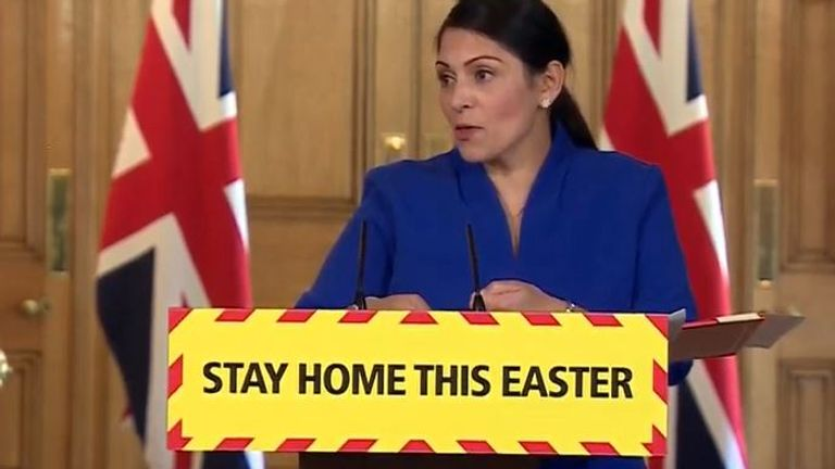 Priti Patel says the government is working to provide PPE more widely