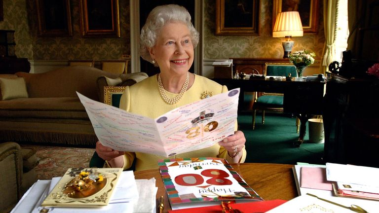 File photo dated 20/04/06 of Queen Elizabeth II reading birthday cards sent to her on her 80th birthday. It is the Queen's 94th birthday on Tuesday, but she actually has two birthdays. A Photo. Issue date: Tuesday April 21, 2020. The PA news agency answers the questions surrounding the Queen having more than one birthday. See PA story ROYAL Queen QandA. Photo credit should read: Fiona Hanson/PA Wire