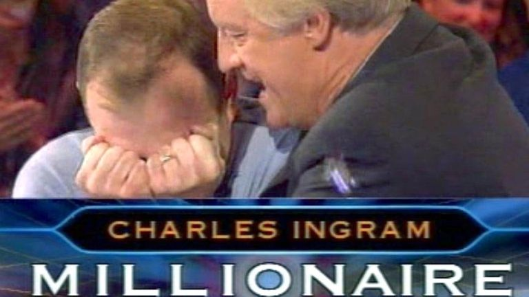 Major Charles Ingram and Chris Tarrant on Who Wants To Be A Millionaire in 2001