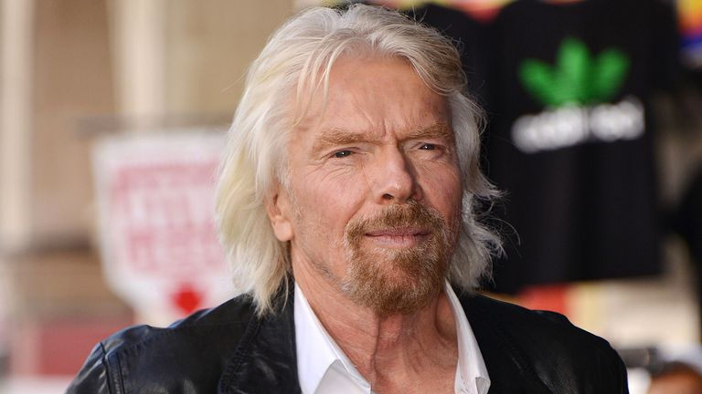 Mandatory Credit: Photo by Broadimage/Shutterstock (9934812b).Sir Richard Branson.Richard Branson honored with a star on the Hollywood Walk of Fame, Los Angeles, USA - 16 Oct 2018