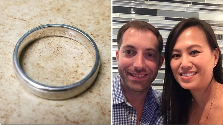 Mike and Lisa were reunited with the ring after it was found at the Coconuts restaurant in Florida