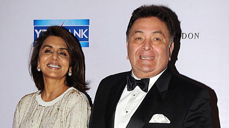 Kapoor with his wife Neetu Singh
