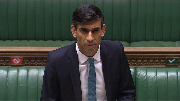 Rishi Sunak speaks in Commons.
