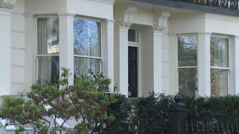 Housing Secretary Robert's London house - blurred GV