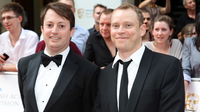 Peep Show and That Mitchell And Webb look co-stars on the BAFTA red carpet in 2010