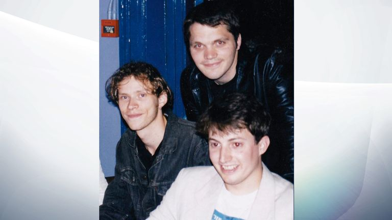 (L-R) Webb, Matt Holness and David Mitchell in their student days