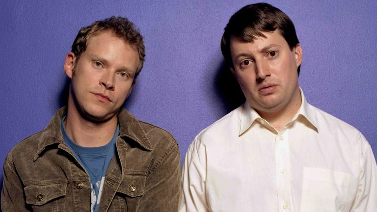 Robert Webb, David Mitchell in Peep Show. Pic: Pete Dadds /Eyevine