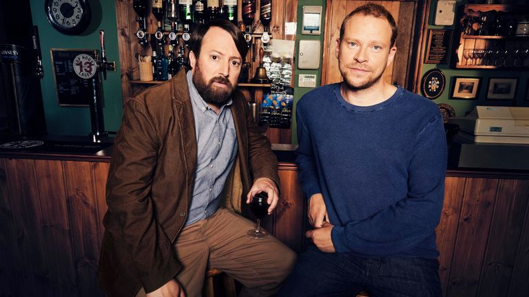 L-R Stephen (David Mitchell) and Andrew (Robert Webb)