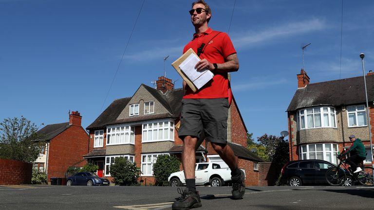 A Royal Mail postman