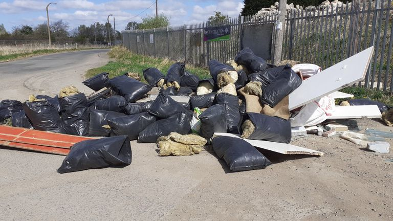 There was a 75% increase in flytipping in the first four weeks of lockdown, ClearWaste said