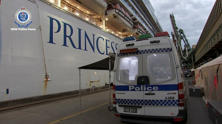 The ship is likely to be held at the port for a number of days. Pic: New South Wales Police Force