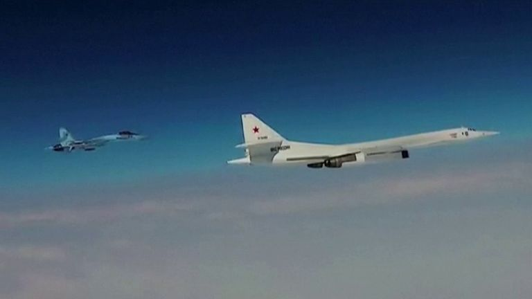 Russia flies nuclear bombers over Baltic