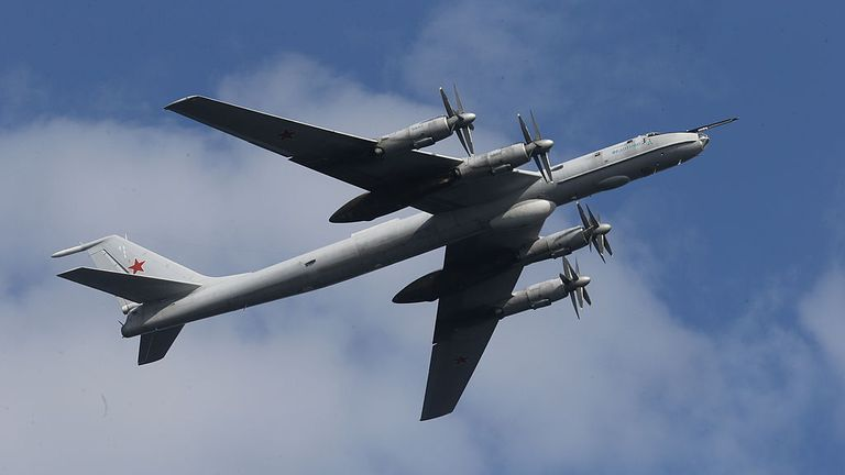 A Russian Tupolev TU-142 (NATO reporting name: Bear F). File pic