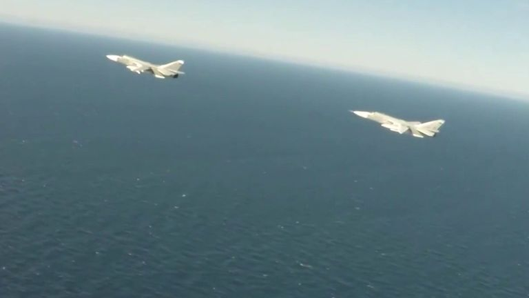 Russian planes are intercepted by NATO over Baltic Sea