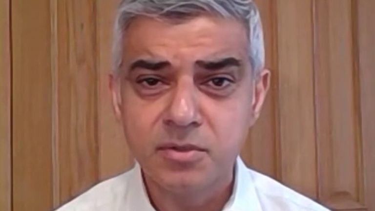 Sadiq Khan says that 14 transport workers have died in London from coronavirus