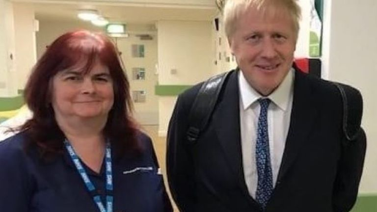 Sara Trollope, pictured with Boris Johnson. Pic: GoFundMe