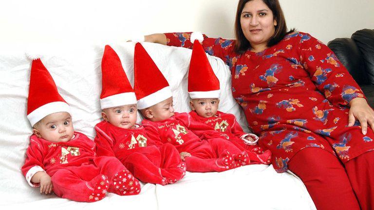 Mrs Sadiq's quadruplets are now teenagers