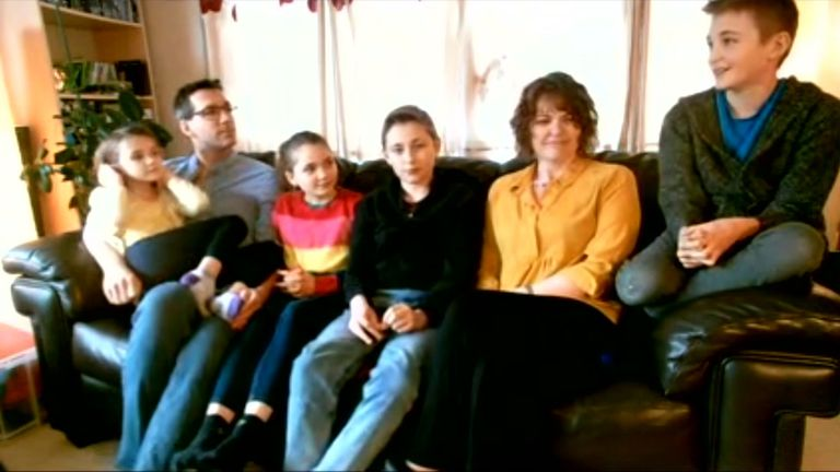 Ben and Danielle Marsh, with Alfie, Thomas, Ella and Tess