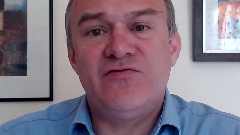 Sir Ed Davey says care workers need to be treated better by society