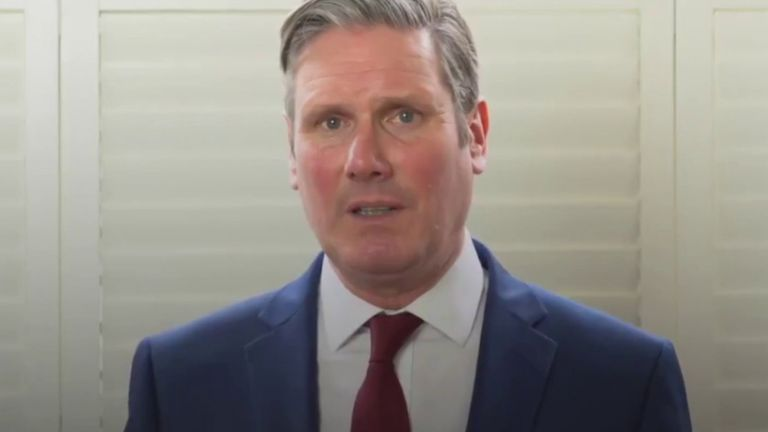 Sir Keir Starmer issues statement on being voted leader of the Labour Party