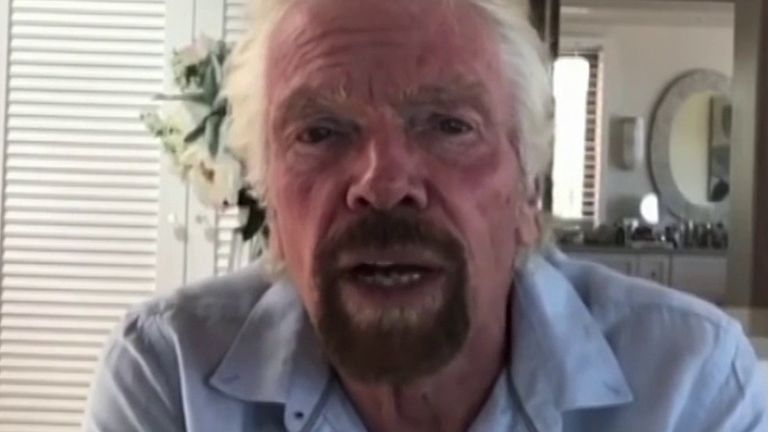 Sir Richard Branson says he believes Virgin Australia can continue