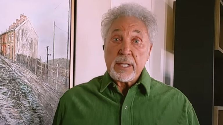 Sir Tom Jones takes part in the One World: Together At Home concert. Pic: BBC Music/YouTube