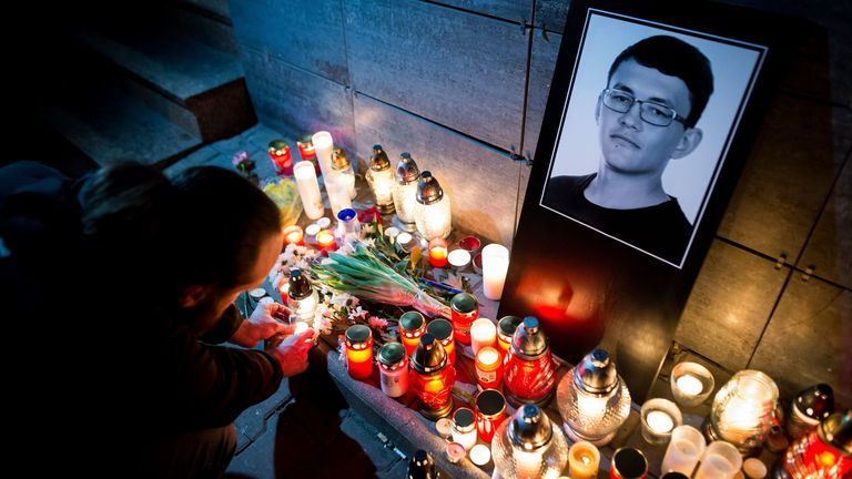 Tributes to murdered investigative journalist Jan Kuciak, whose killing sparked huge protests and saw Slovakia's governement ousted