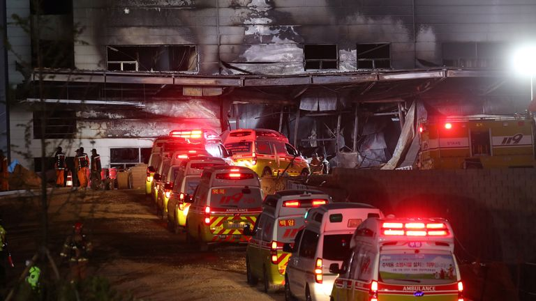 At least 38 people have died in the fire in South Korea