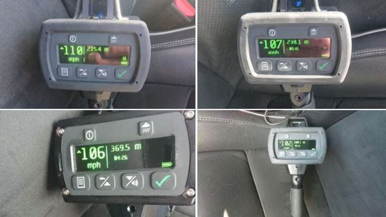 Four drivers were clocked doing over 100mph on the A13. Pic: Andy Cox/Twitter